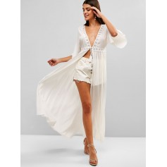 Beach Cover Long Dress - White S