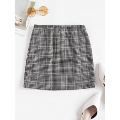 Houndstooth Mini Skirt - Multi-a M