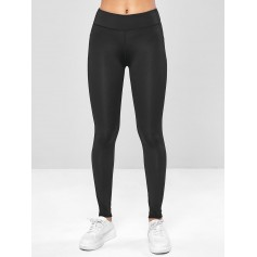 Ninth Pocket Workout Yoga Leggings - Black M