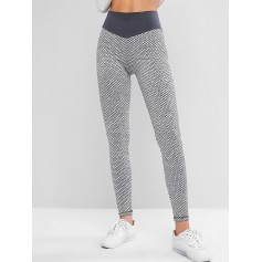 Active Honeycomb Knit Scrunch Butt Leggings - Gray M