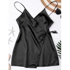 Cami Wrap Slip Dress - Black Xl