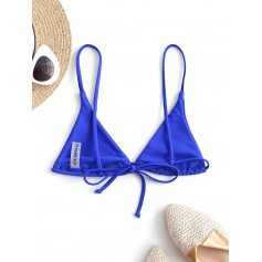 Bralette Plain String Swimwear Top - Cobalt Blue S