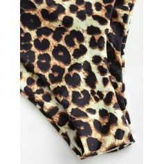 Animal Print High Leg Swimwear Bottom - Leopard S