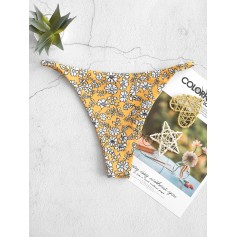 Ditsy Print String Swimwear Bottom - Multi S