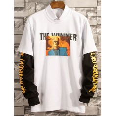 2 In 1 Printed Long Sleeve T-Shirt - White S