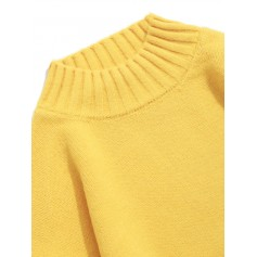 Color-blocking Long-sleeved Casual Sweater - Yellow Xs