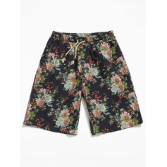 Allover Flower Print Shorts - Multi 4xl