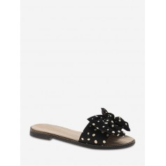 Chic Bowknot Design Outdoor Slippers - Black Eu 37