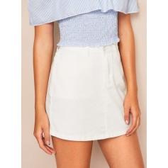White Wash Denim Skirt
