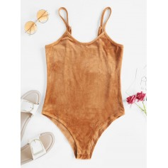Cami High Rise Velvet Bodysuit - Dark Goldenrod S